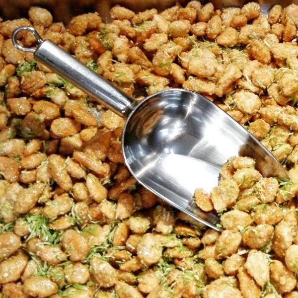 Amêndoas caramelizadas com lima