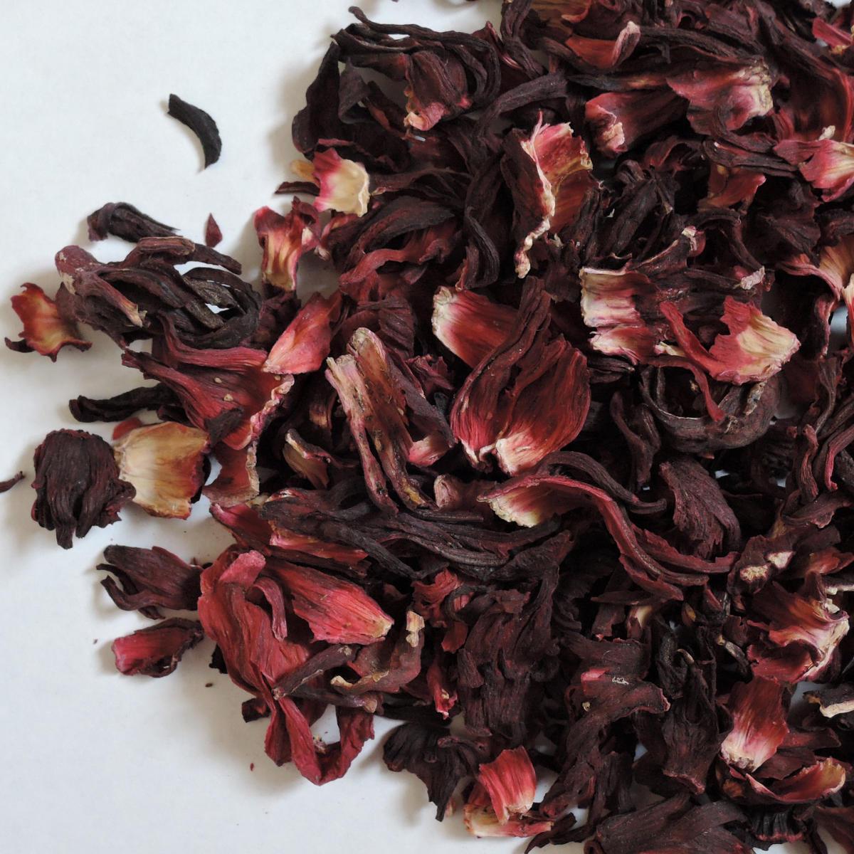 Pétalas secas de flor de hibisco