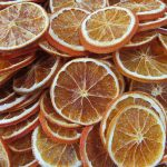 Rodelas de laranja desidratadas