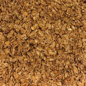 Placas de amêndoa laminada caramelizada