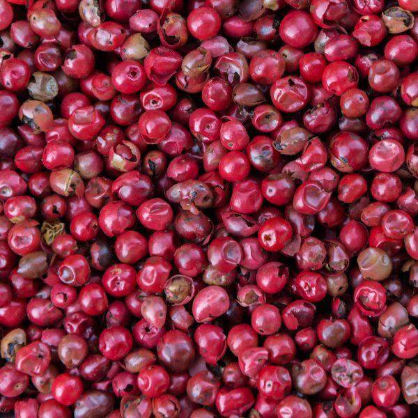 Grãos de pimenta rosa